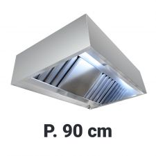 Commercial Extractor Hood 'Cubic', Depth 90 cm Without Motor