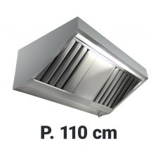 Commercial Extractor Hood 'Snack', Depth 110 cm Without Motor