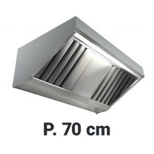 Commercial Extractor Hood Snack Depth 70 cm Without Motor