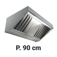 Commercial Extractor Hood 'Snack', Depth 90 cm Depth Without Motor