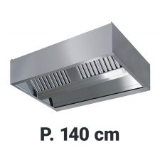 Extractor Hood For Commercial Kitchen Islands 140 cm Depth, Built-In Motor