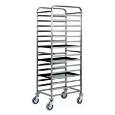 AISI 304 Stainless Steel Bakery Trolley 15  60x40 cm Trays