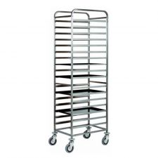 AISI 304 Stainless Steel Bakery Trolley - 18  60 x 40 cm Trays