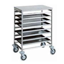 Image Trolley for Pastry Trays 7 Trays 60 x 40
