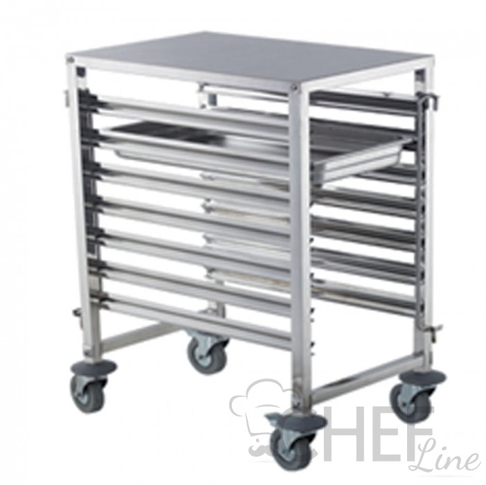 AISI 304 Stainless Steel 7 GN 1/1 Tray Rack Trolley