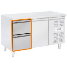 Supplement 2 drawers 1/2 For CHTF Series Refrigerated Table Counters