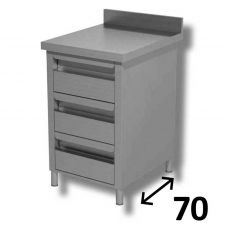 AISI 304 Stainless Steel Drawer Unit 3 Drawers DSCT057A