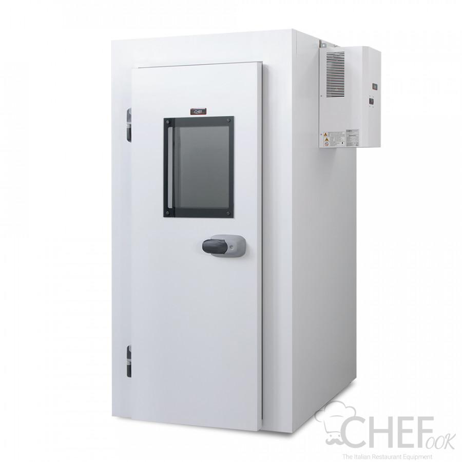 Walk In Fridge 8 cm Thick (0°C/+10°C) with Floor, Glazed Door, Interior Lighting and Motor