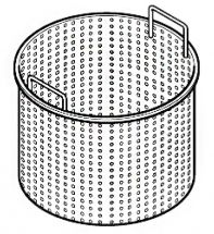 Perforated Basket For Steam Kettle - 200 Liters - 90 cm Depth 71 cm Diameter