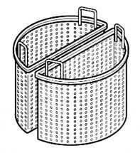 2 Perforated Half Baskets For Steam Kettle - 200 Liters - 90 cm Depth 71 cm Diameter