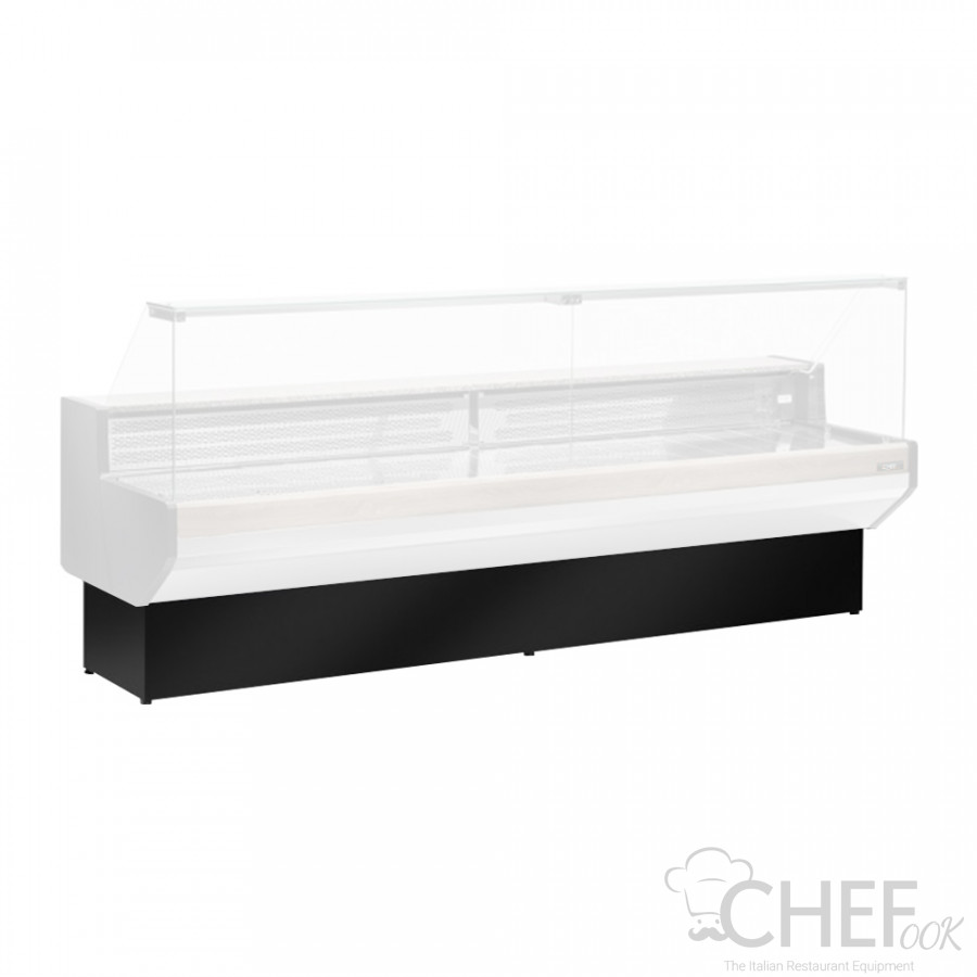Black Colour Lower Front Decoration For Refrigerated Counters chefook