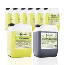 Combination of 7 Detergent Canisters and 1 Professional Dishwasher Rinse Aid - CHEFOOK