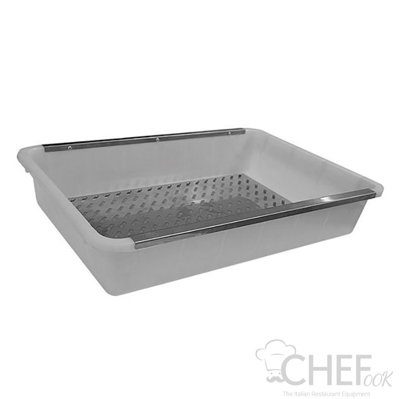 Polypropylene Container (41 x 59 x 12,6) With Stainless Steel Double Bottom