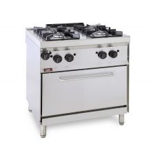 4-Burner Floor Commercial Gas Cooker + Gas Oven