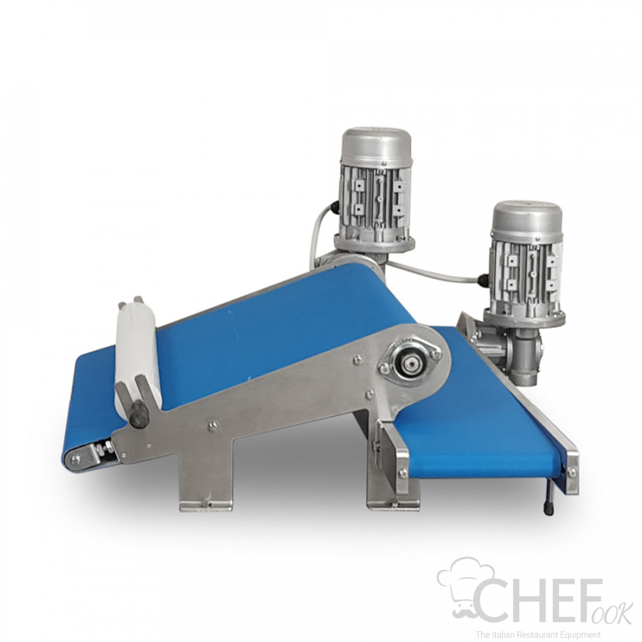 Double Inclined Conveyor Belt for Waste Dough Recovery for Dough Cutting Table CHEFOOK