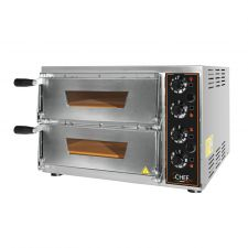 Commercial Electric Double Pizza Oven Eko Baby  1+1  34-cm diameter Pizzas -  Glass Door