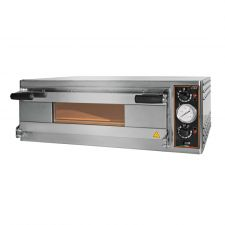 Commercial Electric Pizza Oven Eko Baby 1 Pizza 50 cm Diameter Glass Door