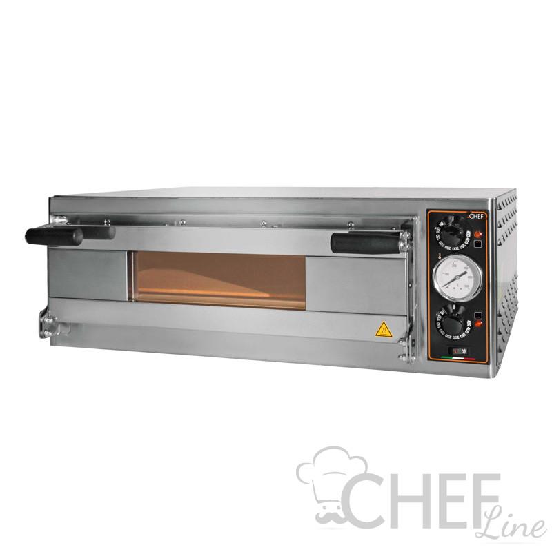 Commercial Electric Pizza Oven Eko Baby 1 Pizza 50 cm Diameter Glass Door