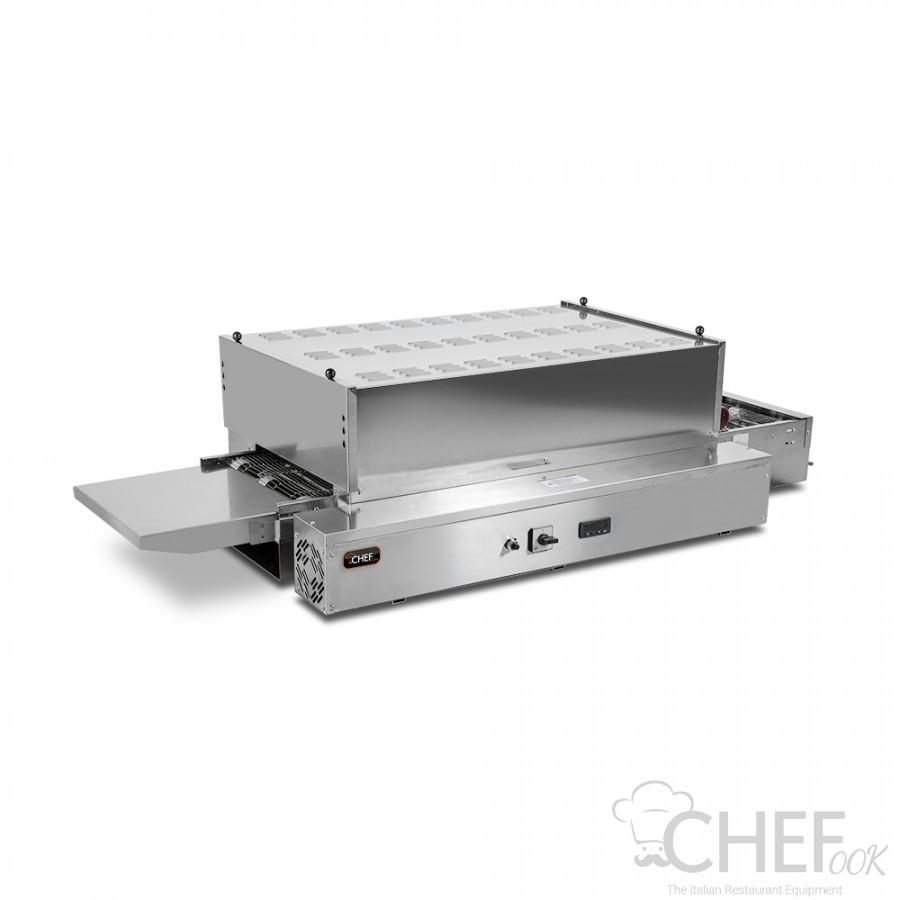 Static Commercial Conveyor Pizza Oven 60 x 33 cm Diameter Pizzas