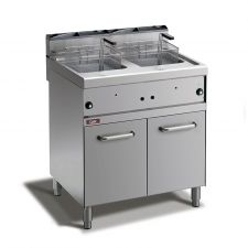 Floor Commercial Gas Fryer 10 + 10 Lt, 70 Cm Depth