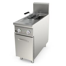 Image Electronic Floor Commercial Electric Fryer 8 + 8 Capacity 90 Cm (35,4 In) Depth