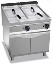 Image Electronic Floor Commercial Electric Fryer 22+22 Lt (4,8+4,8 Ukgal) Capacity 90 Cm (35,4 In) Depth