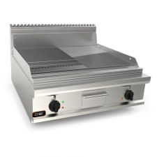 Catering Electric Griddle With Smooth/Grooved Chromed Double Plate 20EX9FM8B-2-CR