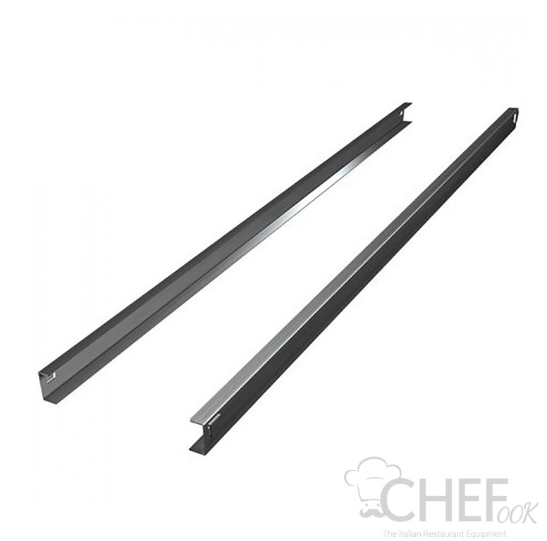 Pair of C Stainless Steel Guides For CHTF Fridge Counters 60 Cm Depth