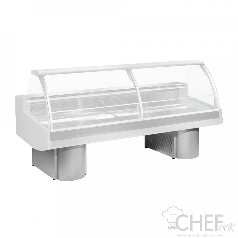 Extra Charge for Cylindrical Inox Legs For Buffalora Serve-Over Counter chefook