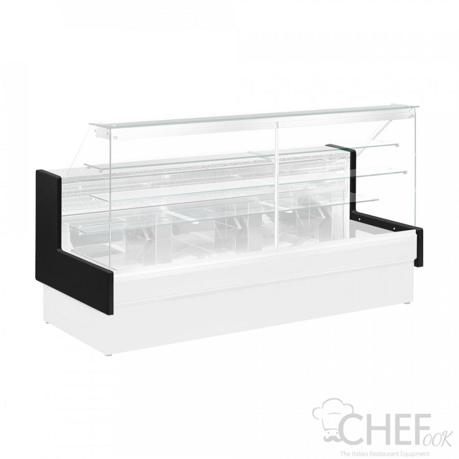 Épaules de Couleure Noire pour Comptoir Réfrigéré Pâtisserie