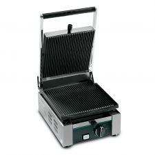 Cast Iron Commercial Panini Grill With Grooved Plate