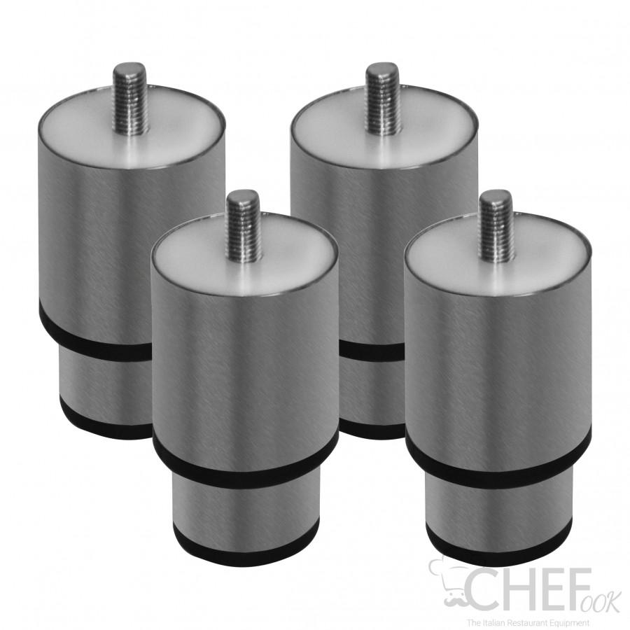 4 Stainless Steel Feet 5-7 Cm Kit