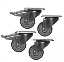 2 Wheels With Brake and 2 Without Brake For CHTF Series Counter Fridges