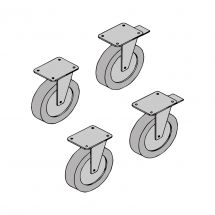 Wheels Kit For Stainless Steel Table With Cabinet