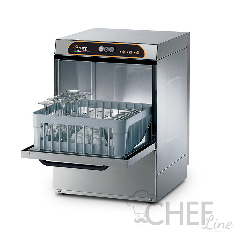 Manual commercial glass washer, 40 x 40 Cm basket