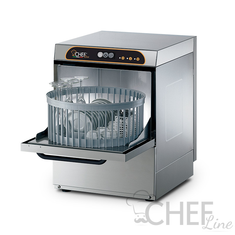 Manual commercial glass washer,  Diameter 40 cm