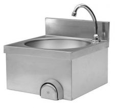AISI 304 Stainless Steel Commercial Hand Sink With Knee Control