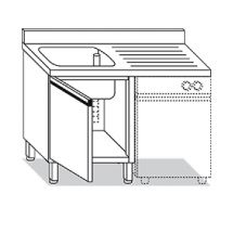 Stainless Steel Single-Bowl Sink With Right Side Drainer