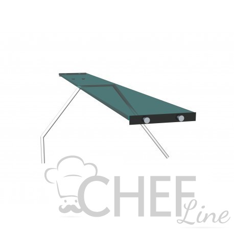 Tempered-Glass Intermediate Shelf With Supports For Straight-Glass Fridge Counters