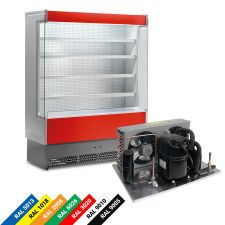 Multideck Display Fridge For Packed Meat 0°C to +2°C 80 cm Depth Remote Engine