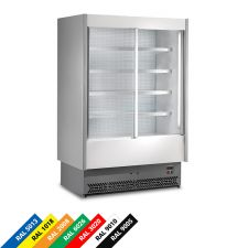 Multideck Display Fridge For Cold Cuts And Dairy Products, Double-Galzed Sliding Doors