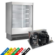 Multideck Display Fridge For Cold Cuts And Dairy Products, Remote Motor, Double-Galzed Sliding Doors