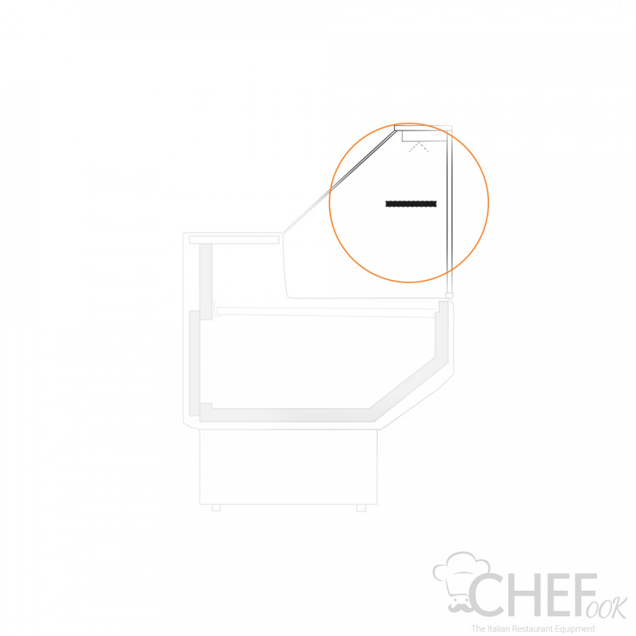 Intermediate Glass Without Lighting For Fridge Counter chefook