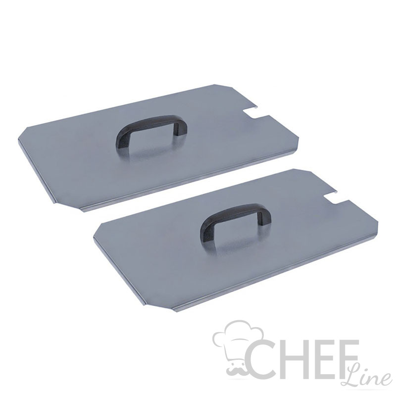 Pair Of 1/2 Lids For Gas Fryer 9 Liters Best Prices CHEFOOK