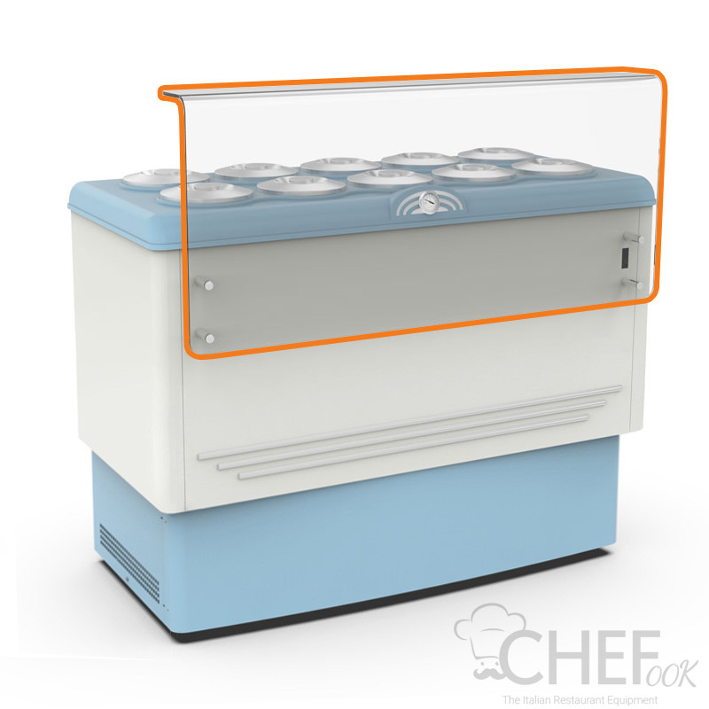 Plexiglass cover with support bracket and flavour line for CHBGC10
