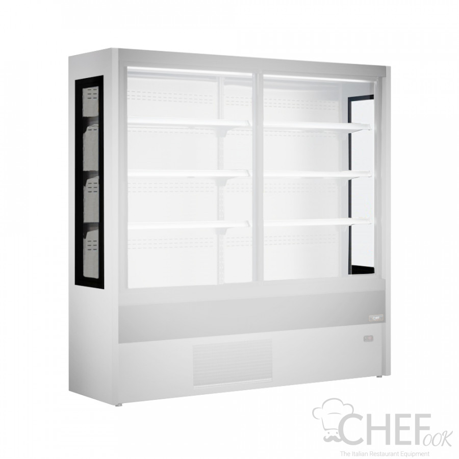 Double Panoramic Sides Multideck Display Fridge chefook