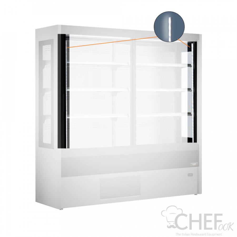 Vertical LED Illumination The Side Panels For Multideck Display Fridge chefook