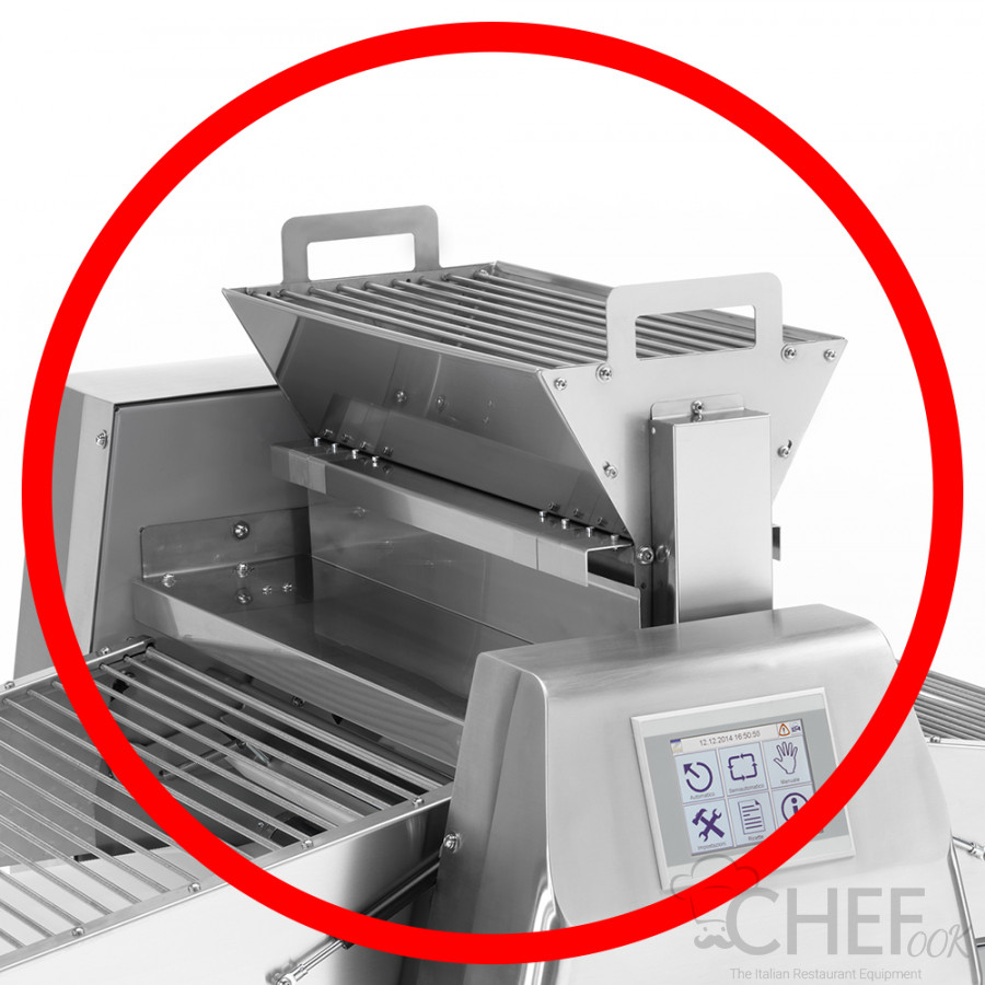 Automatic Flour Spreader Stainless Steel for Dough Sheeter With Conveyor Belts chefook