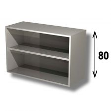 AISI 304 Stainless Steel Open Wall Cabinet