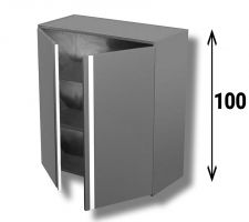 AISI 304 Stainless Steel Hinged Door Wall Cabinet